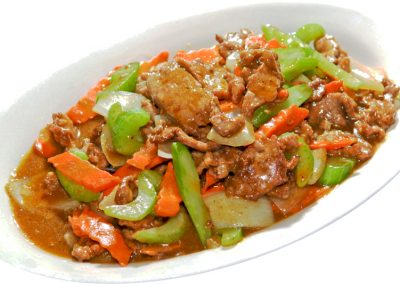 Stir-fried Beef with Curry Sauce