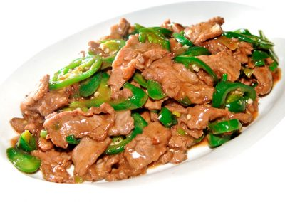 "Stir-fried Beef with Hot Peppers <span style=""color: #ff0000;"">*</span>"