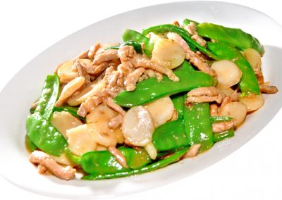 Stir-fried Pork with Peapods